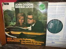 LISZT: Concerto Pathetique SCHUMANN: Andante Studies   Ogdon Lucas / Argo UK LP