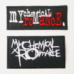 MY-CHEMICAL-ROMANCE-MCR-Patch-SET-OF-TWO-Iron-On-Patches-UK-FREE-POST