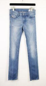 DIESEL LIVY WASH 008C2_STRETCH Women's W27/L34 Skinny Ripped Studs Jeans 41684-E