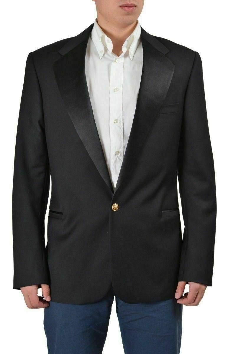 Gianni Versace  Tailor Made  Men's Wool Tuxedo Sport Coat Blazer US 40 IT 50