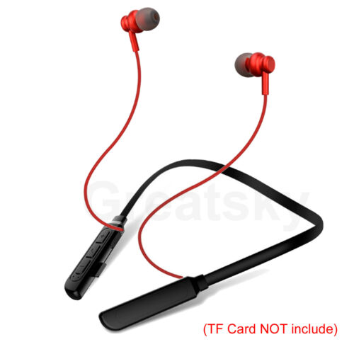 Wireless Bluetooth Headset Sports Stereo Headphone With Mic TF Card Slot Music