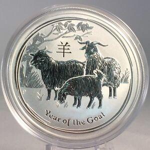 1 Dollar 2015 Chèvre Lunar Ii Australie Argent .999 Lingot $ Silver Remises Vente