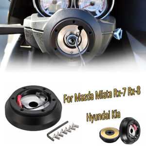 Steering-Wheel-Short-Hub-Adapter-Quick-Release-Kit-For-Mazda-Miata-Rx-7-Rx-8-T