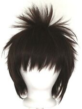 13'' Spiky Short Chocolate Brown Synthetic Cosplay Wig NEW