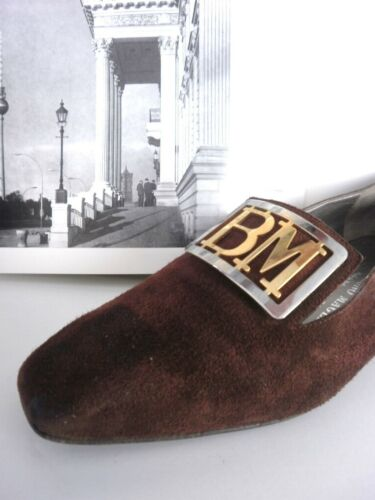Brown Damen Vintage True Made Magli Italy Braun Ballerinas Slipper Pumps Bruno vqwB57O1xw