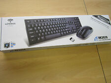 2.4G Black Wireless Keyboard & Mouse Set for Windows/Mac/PC/Laptop/Smart TV