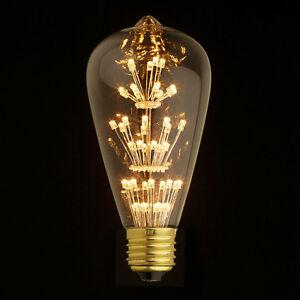 Image Is Loading LED Squirrel Light E27 Edison Screw Vintage Filament