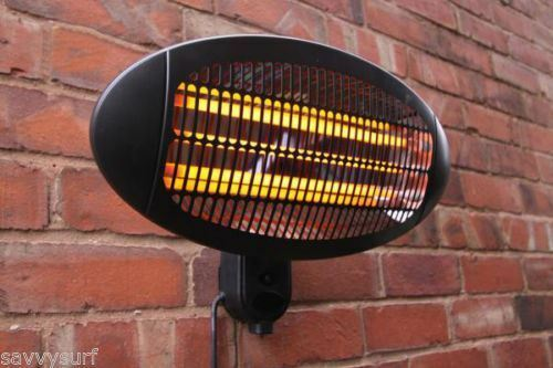 NEW PATIO HEATER 3 SETTINGS WALL MOUNTED GARDEN ELECTRIC WALL HEATER OUTDOOR
