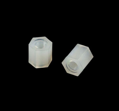 M3 Nylon Hexagonal Pillars  Male-Female Female-Female PCB Standoff Spacers