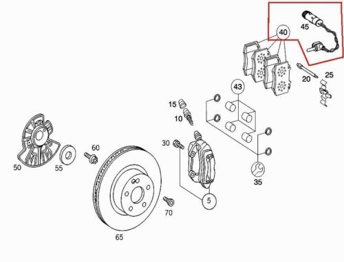 OEM GENUINE MERCEDES BENZ NEW FRONT BRAKE PADS 00-05 S NO 4MATIC FROM A265054