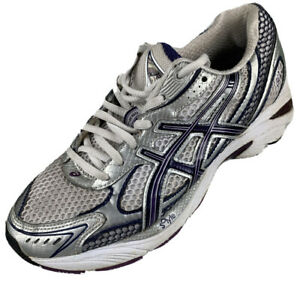 Details about $89 Asics Women Size 6 Running Athletic Shoes Gray Comfort Walking Cushion T054N