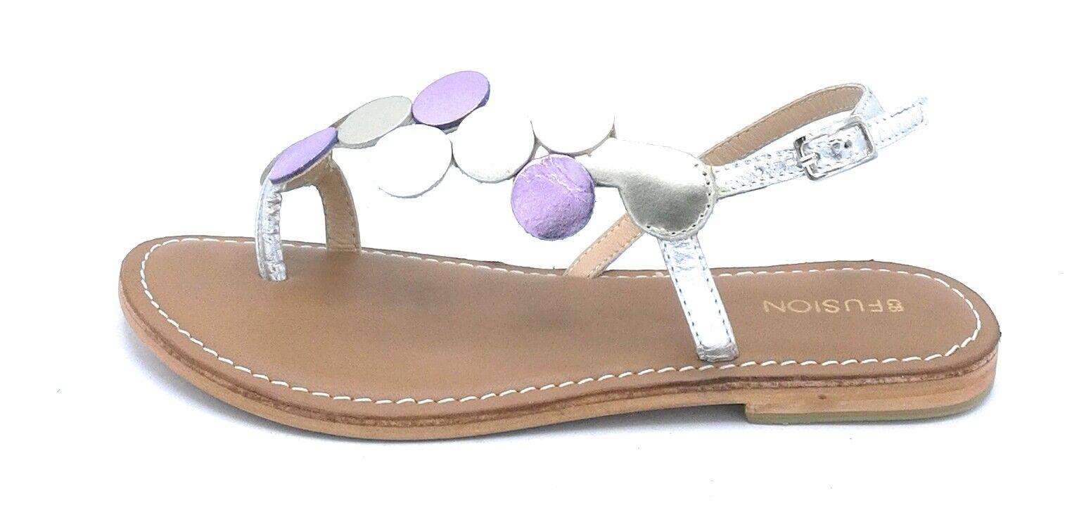CB Fusion 219001 Sandale Flip-Flops Gurt Silber Kreise Mehrfarben