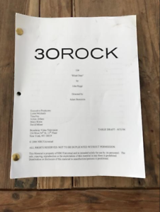 30 Rock Tv Script Blind Date Ebay