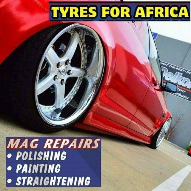 TYRES FOR AFRICA,for tyres mag repairs spare wheels