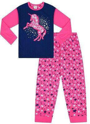 The PyjamaFactory Pyjama Long en Coton pour Fille Licorne University