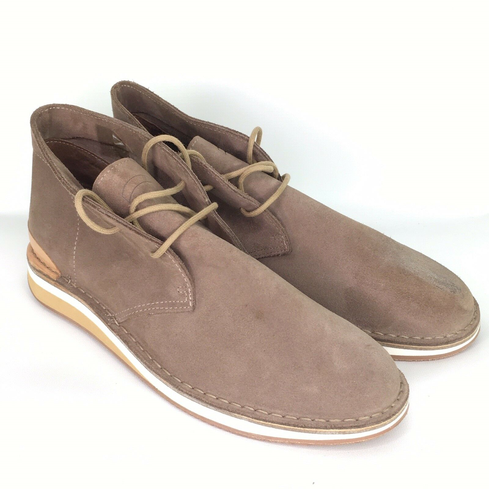 NWOT GREATS 'HIRSH' Boot shoes Tan Suede Mens US Size 11.5 Made in