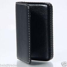 Genuine PU Leather Leather Credit Card Holder Wallet Card Wallet Holder - Black1