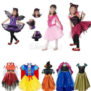 Girls-Pirate-Fairy-Halloween-Costume-Outfits-Party-Fancy-Dress-Up-Clothes-Kids