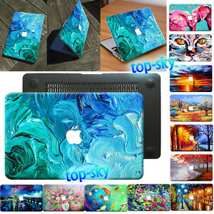 Oil Painting Design Hard Case Cover For Mac Macbook Pro Air