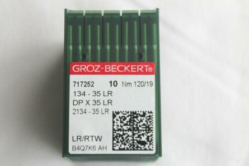 134 - 35 LR Groz Beckert DP X 35 LR NM 120/19 Rundkolben Leder Maschinennadel