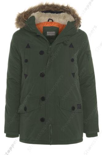 NEUF pour garçons veste parka manteau à capuche garçon rembourré vêtements âge 7