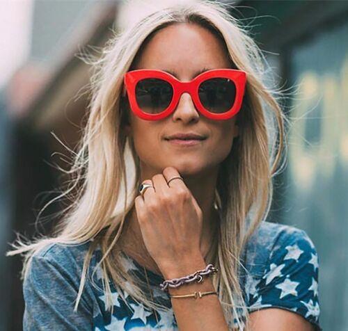 Haut Femme Grande Taille Homme Fashion Lunettes de Soleil Lentille UV400