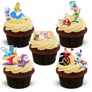 31 Stand Up Alice In Wonderland Edible Wafer Paper Cupcake Cake