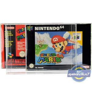 100-x-Game-Box-Protectors-for-N64-SNES-Super-Nintendo-64-0-5mm-Plastic-Display