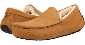 7c1361b7cd1 Men UGG Ascot Suede Moccasin Slipper 1013524 Wheat 100% Original ...