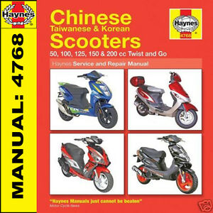Pgo g-max 50 125 150 scooter service repair manual cd for sale.