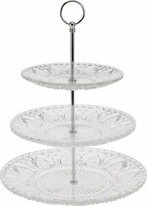 2-Or-3-Tier-Glass-Cake-Stand-Wedding-Centrepiece-Clear-Design-Serving-Display