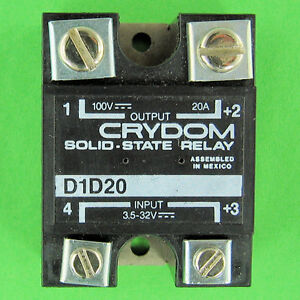 Crydom D1D20 Solid State Relay SSR 20A DC Power Switching 35 32 V