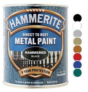 PréVenant Hammerite-martelé Direct à La Rouille Métal Peinture-toutes Les Couleurs-toutes Tailles-afficher Le Titre D'origine