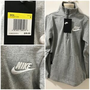 5bed9ccfd5bd Nike Boys Gray Heather Size S Half-Zip Pullover Shirt  35 NWT ...