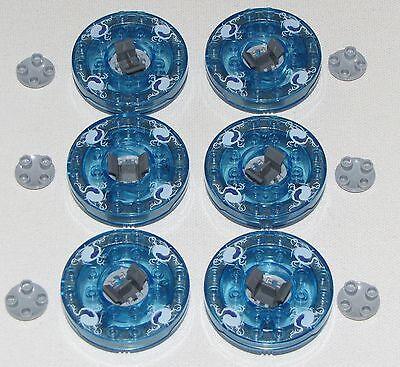 LEGO LOT OF 6 SPINNING NINJAGO SPINNERS TRANS-BLUE NINJA PIECES