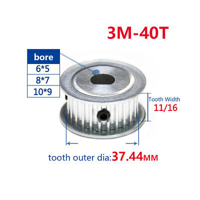 3M 20T//25T//30T//40T Synchronous Timing Belt Tensioner Pulley For 10//15mm Belt