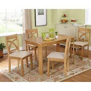 Image Is Loading Oak Finish 5 Piece Dining Room Set Home