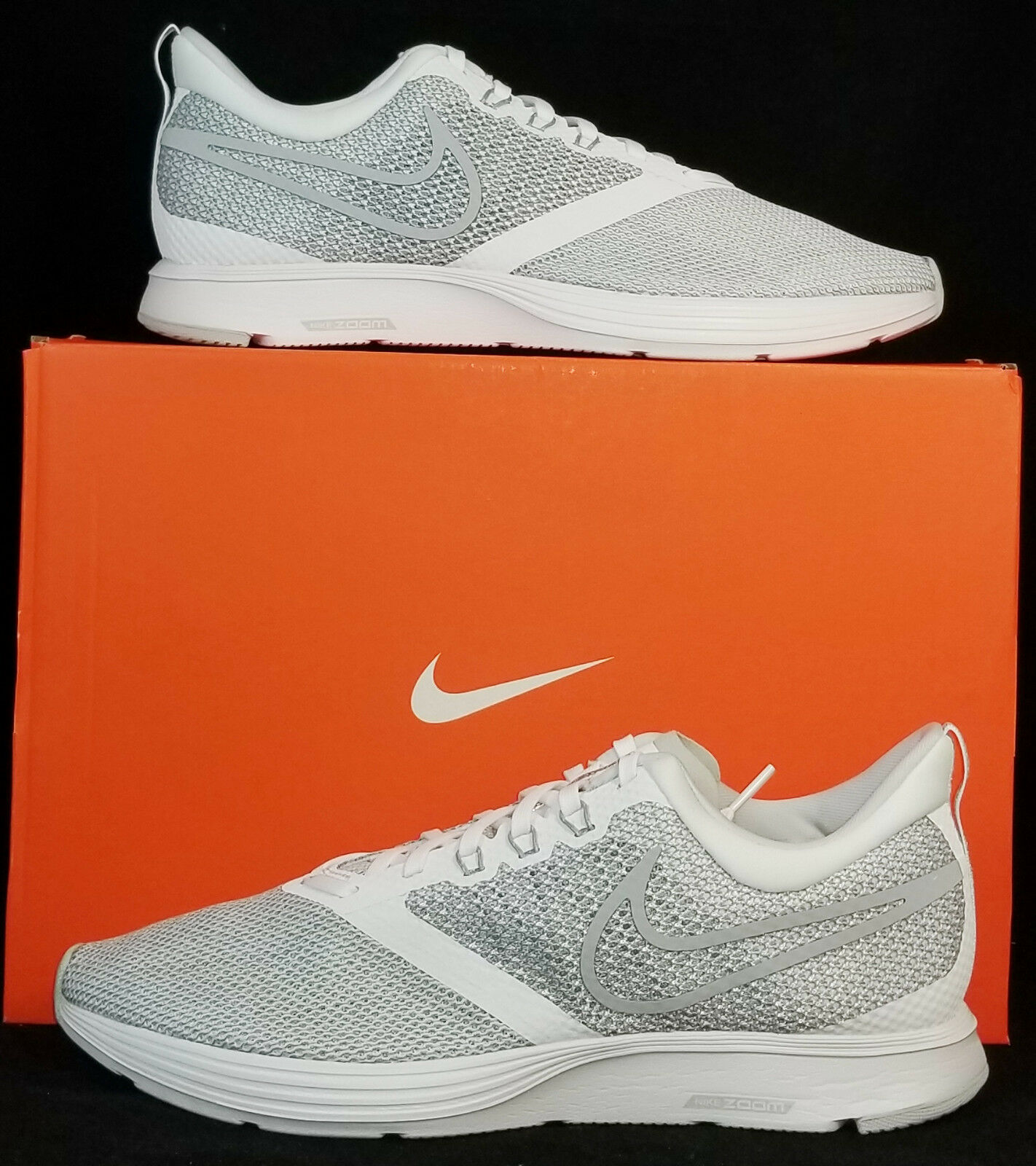 NIB NIKE Mens 9.5 ZOOM STRIKE AJ0189 100 WOLF GREY LIFESTYLE RUNNING SHOE Price reduction Wild casual shoes