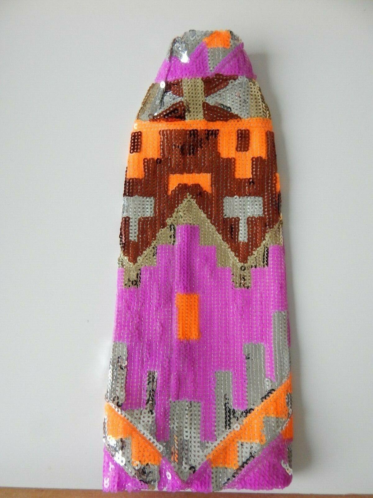 Superfrock Superdoll Sybarite SALON  OOAK Sequin Skirt Disco Kudu