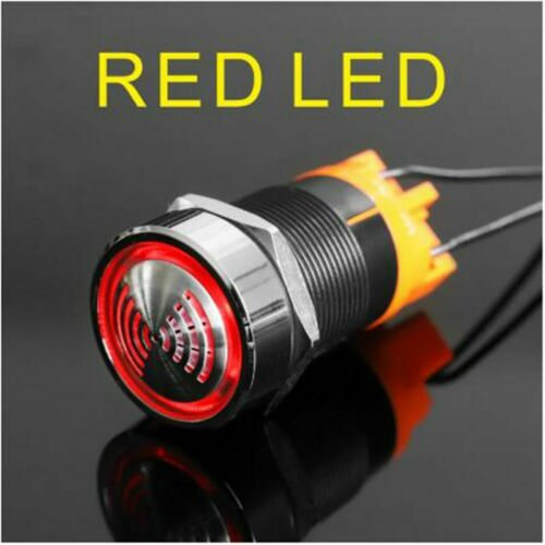 22mm metal flash buzzer alarm stainless steel head bright LED red light 12V 24V