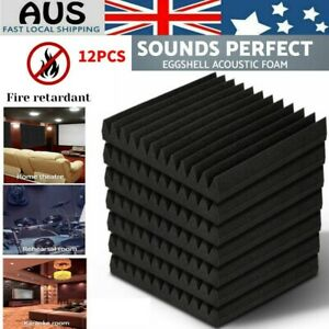 12pcs Studio Acoustic Foam Sound Absorption Proofing ...