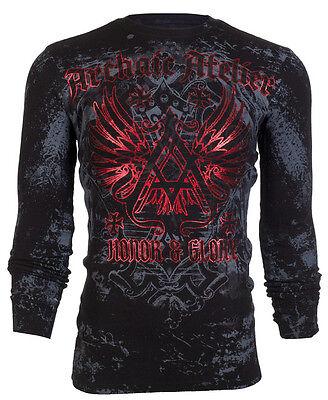 Archaic AFFLICTION Men THERMAL T-Shirt ACHILLES Tattoo Biker MMA UFC S-3XL $58 a