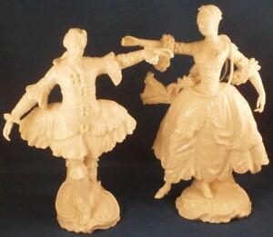Pair Nymphenburg Porcelain Court Dancer Figures Figurine Porzellan Figur Figure