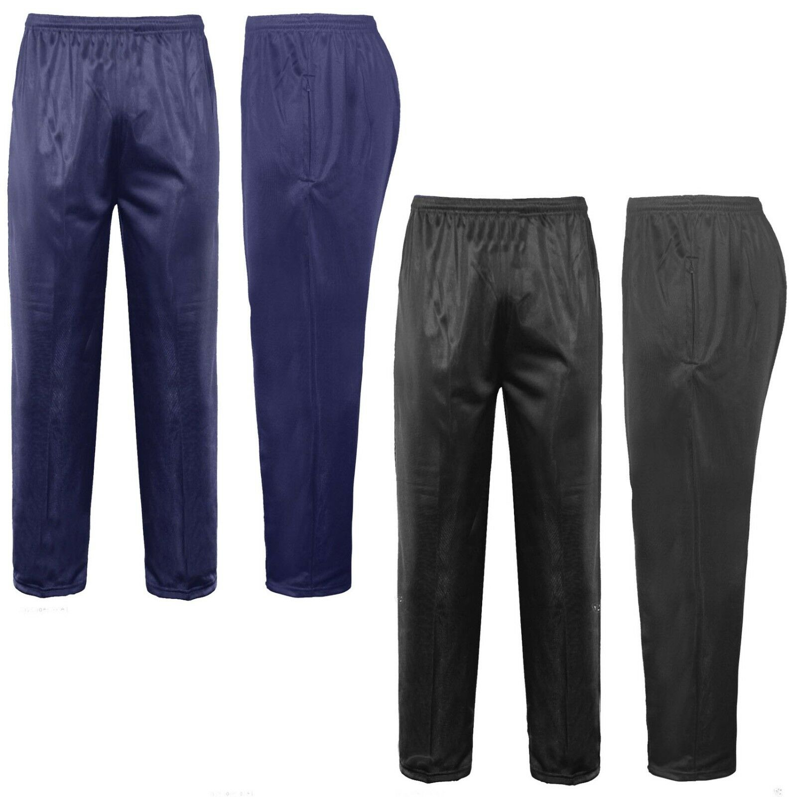Mens New Silky Work Wear Gym Casual Tracksuit Track Bottoms Pants Trousers S-5XL