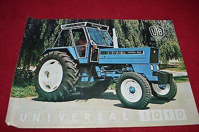 UTB Romania Universal 1010 Tractor Dealer/'s Brochure LCOH