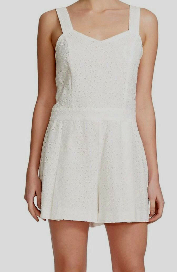 1.State Eyelet Cotton Romper Cloud XL NWT  169