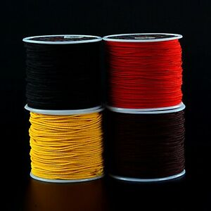 Craft-Elastic-Stretch-Round-Beading-Cord-Braided-String-Rattail-Rope-0-8mm-1-5mm