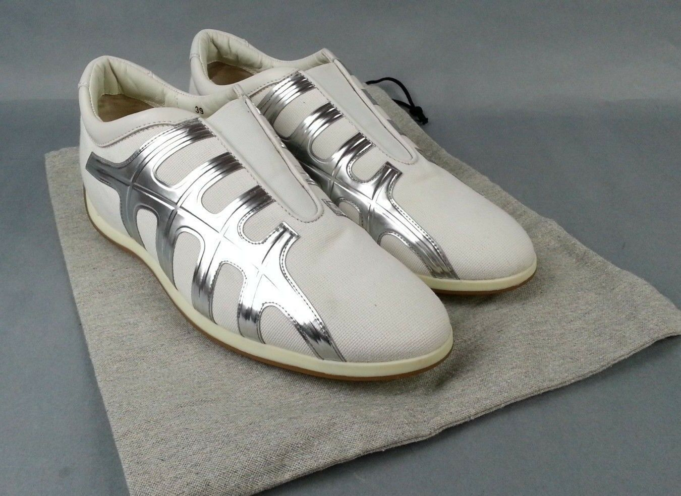 Hogan White Metallic Womens shoes Size 8.5-9 US   39 EU