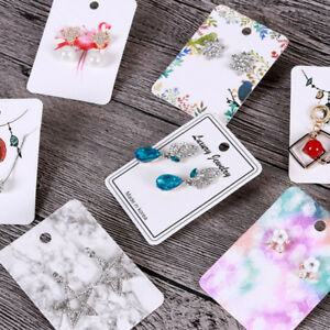 Details About 100x Earring Display Paper Holder Hanger Cards Tags Craft Market Jewellery Diy S