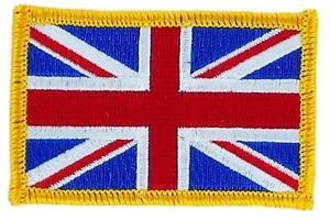 Patch-ecusson-brode-Drapeau-UNION-JACK-ANGLAIS-UK-ROYAUME-UNIS-Thermocollant